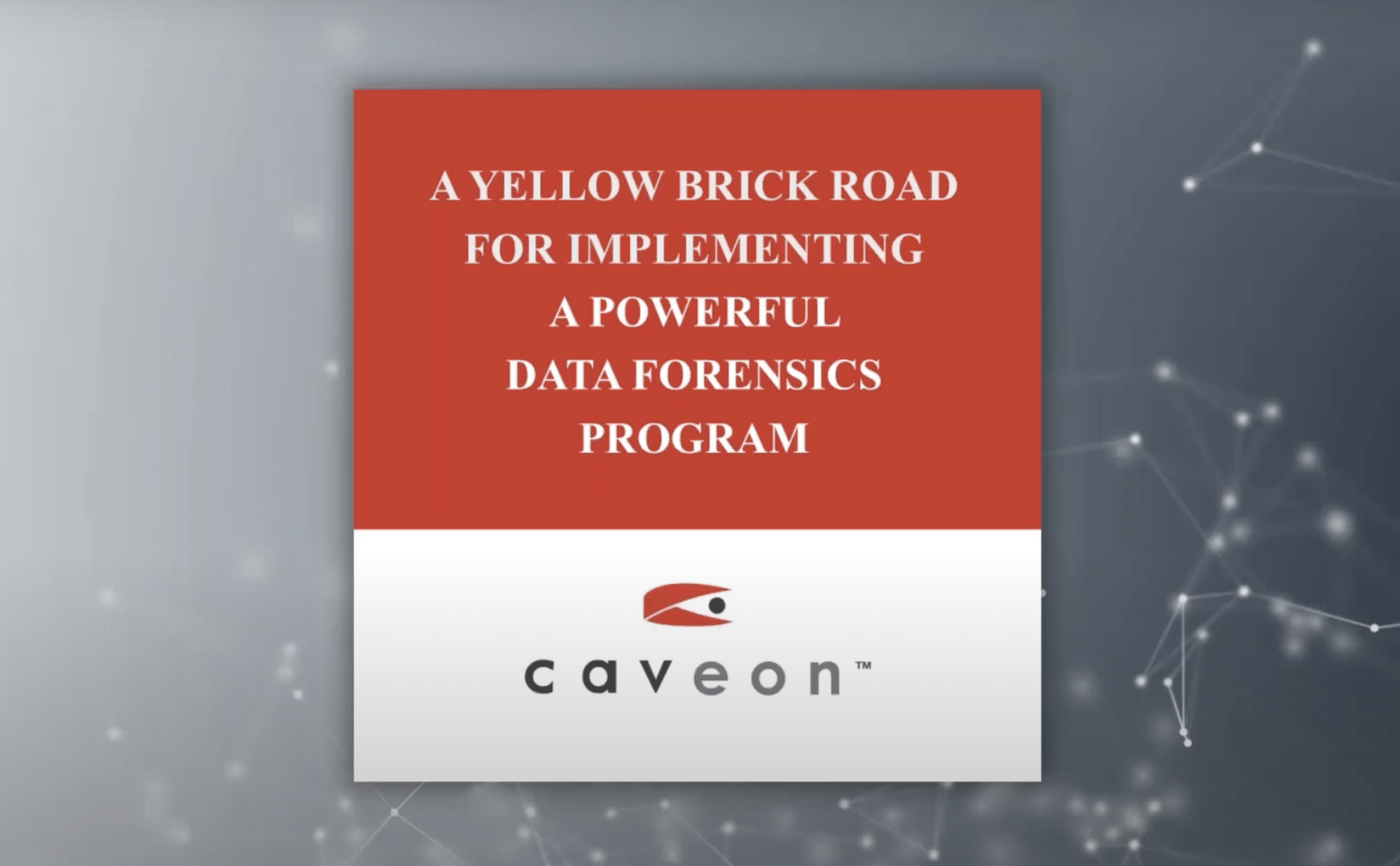 A Yellow Brick Road for Implementing a Powerful Data Forensics Program