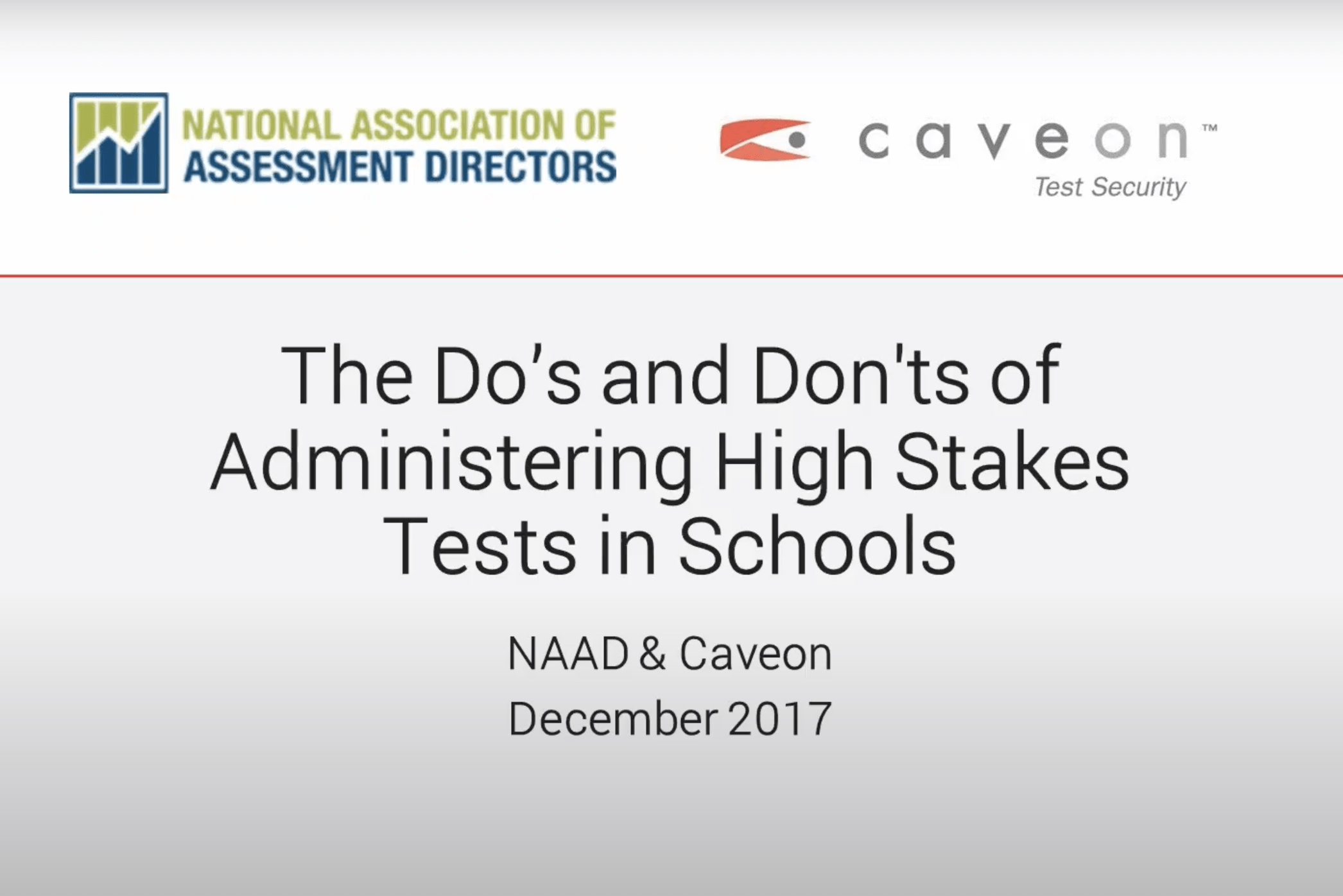 The Dos and Don'ts of Administering High-Stakes Tests in Schools