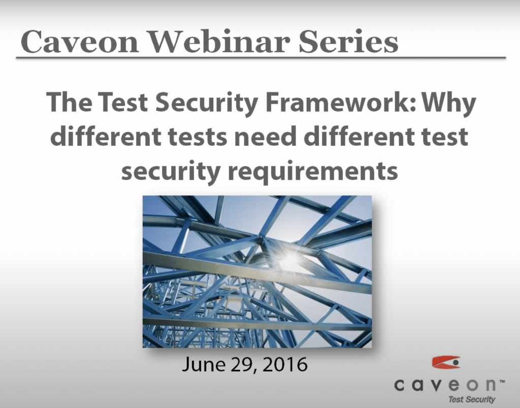 The Test Security Framework: Why Different Tests Need Different Security Requirements