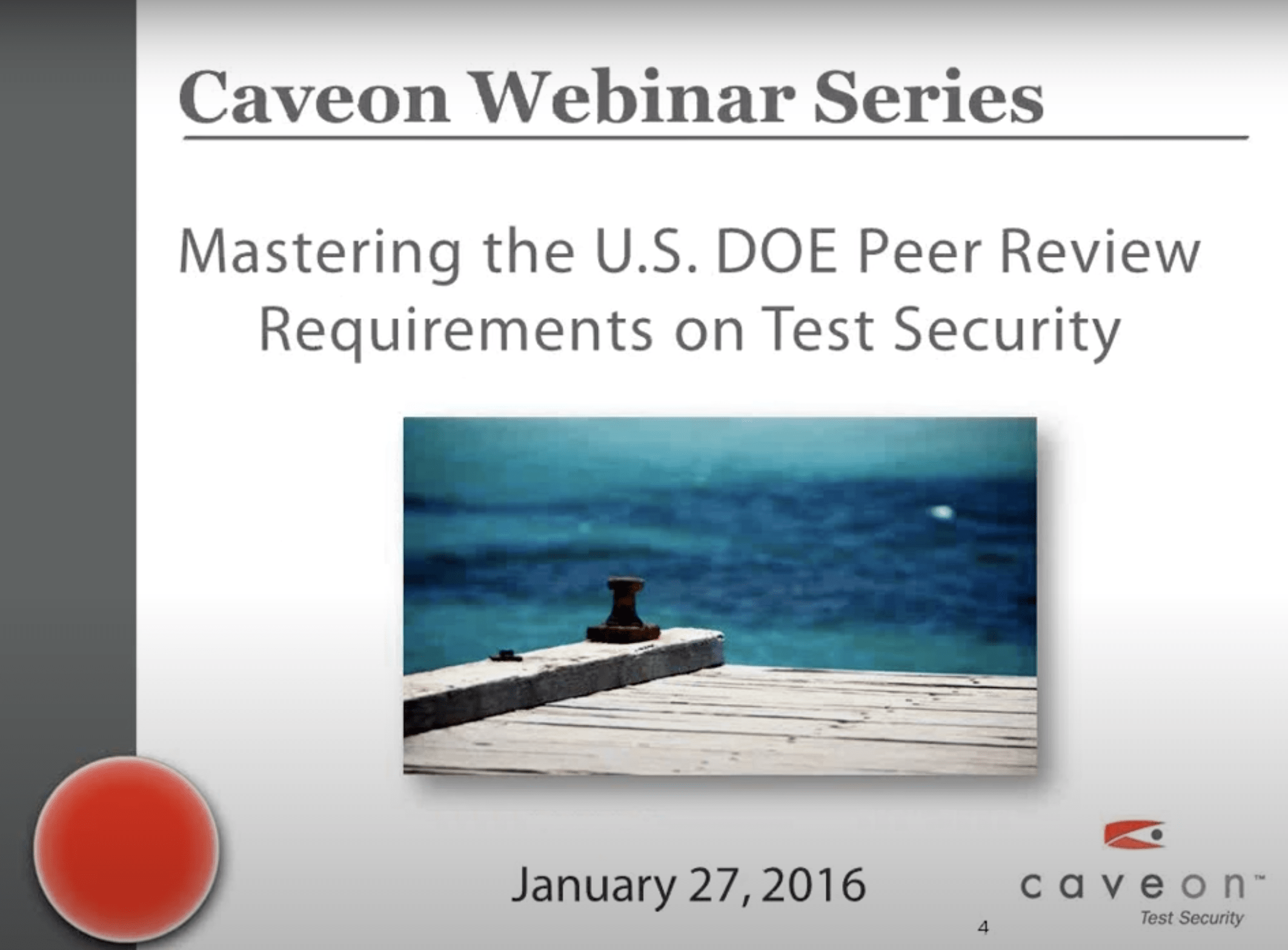 Mastering the U.S. DOE Peer Review Requirements on Test Security