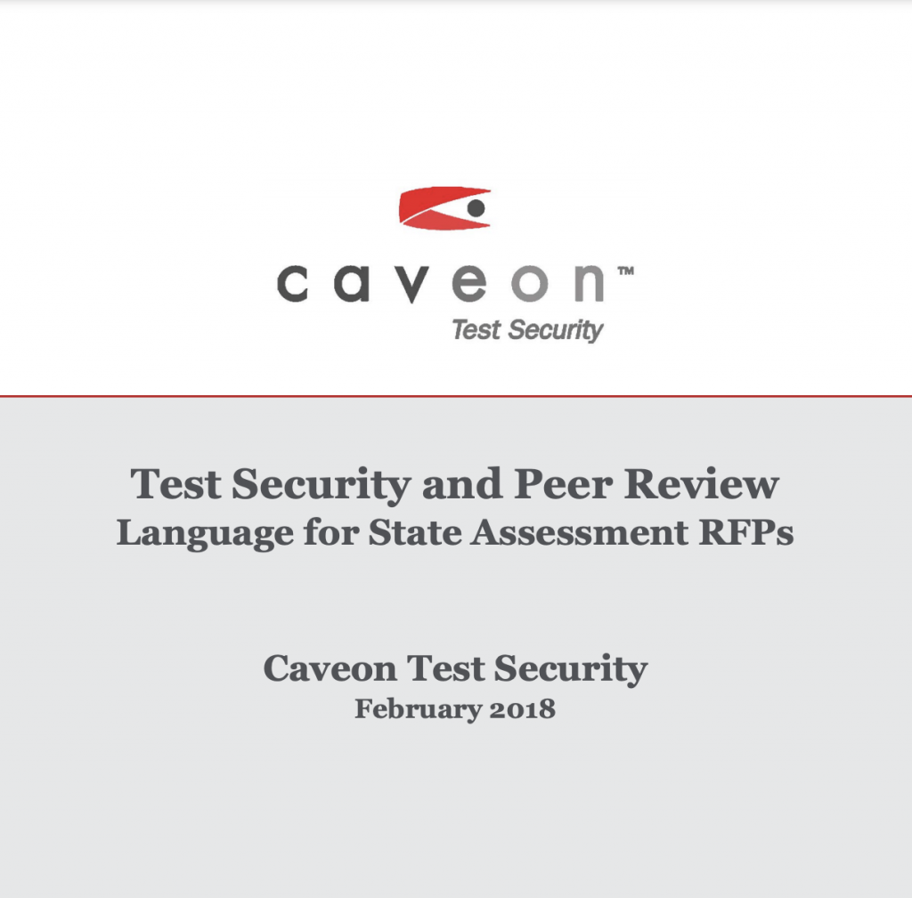 Test Security and Peer Review, Language for State Assessment RFPs​: White Paper